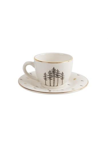 Porland Lfh Forest Tabaklı Kahve Fincanı 85 Cc Renkli